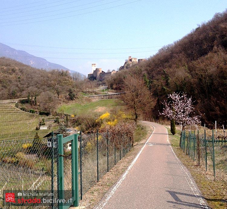 Paesaggio della ciclabile Oltradige Bolzano  Appiano  Caldaro