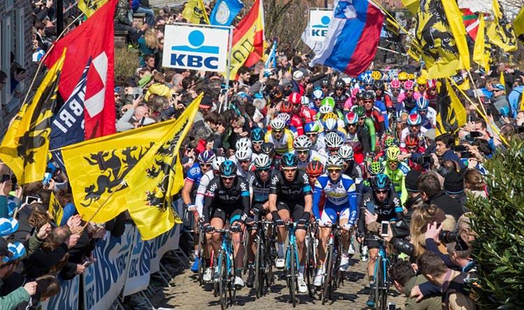 muro di Oude Kwaremont del Giro delle Fiandre