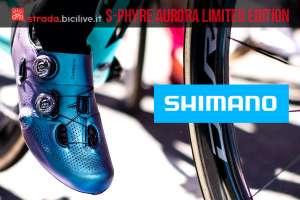 scarpa da ciclismo Shimano S-Phyre Aurora in edizione limitata