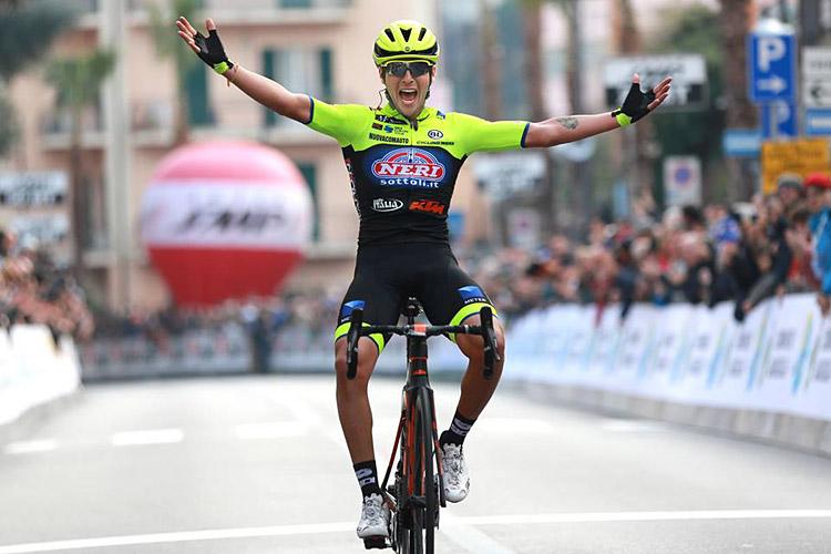 Simone Velasco vincitore al Trofeo Laigueglia 2019 con una KTM