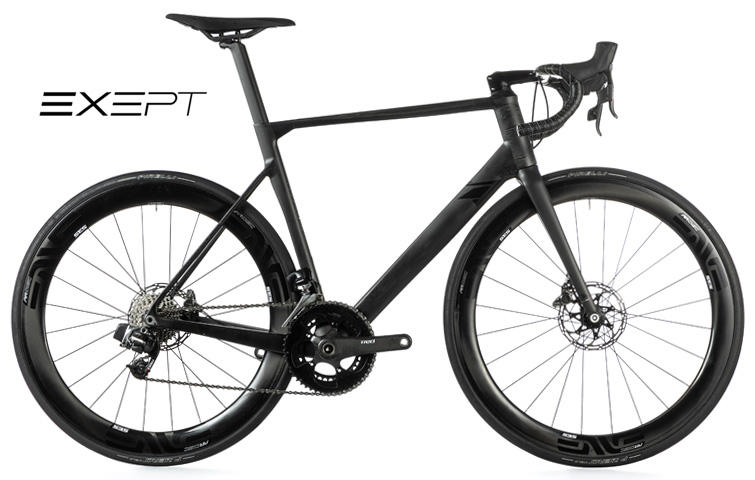 """Una bici da strada Exept Allroad Integrated con ruote ENVE e colorata con lo stile """"La Bastarda""""."""