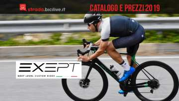 Le bici da strada Exept 2019: catalogo e listino prezzi