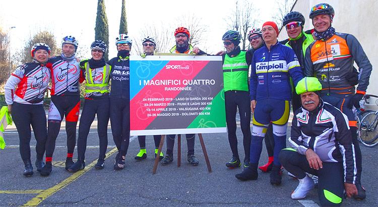 foto di gruppo durante la Randonnee del Lago di Garda