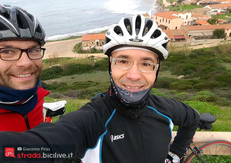 Giacomo Piras durante il giro del mare in Sardegna
