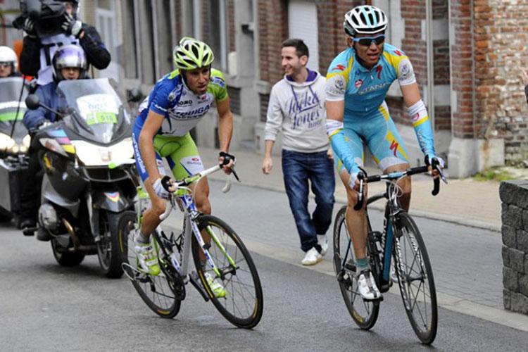 Nibali durante una gara Liegi-Bastogne-Liegi