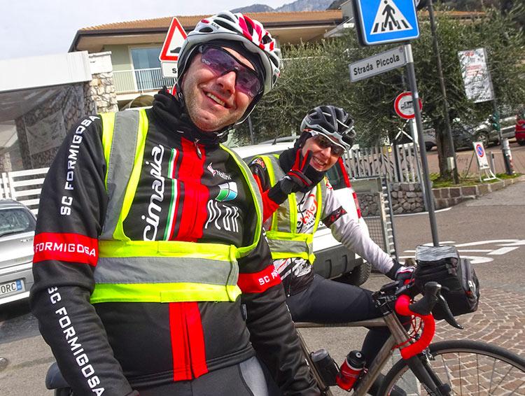 compagni di viaggio durante La Randonnee del Lago di Garda