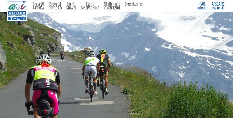 La home page del sito Audax Randonneur Italia