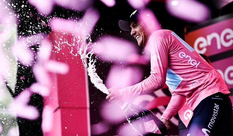 Richard Carapaz maglia rosa seconda settimana giro d'Italia 2019