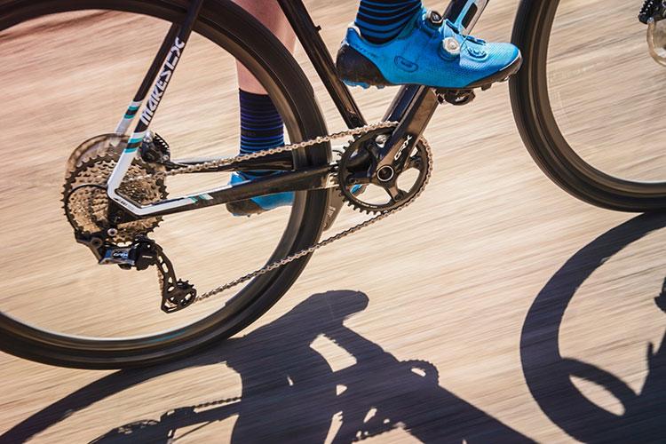 bicicletta con montato il gruppo shimano grx 2019