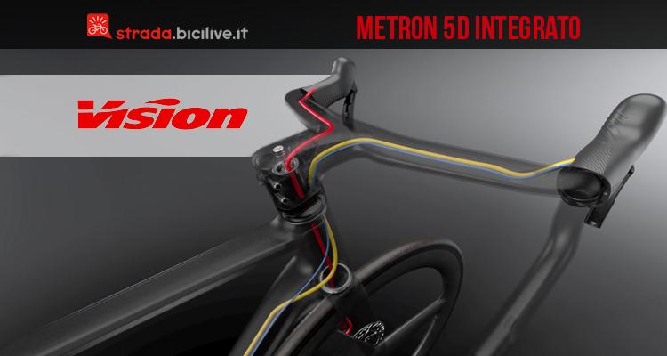 bici strada sistema metron 5d cavi manubrio vision 2019