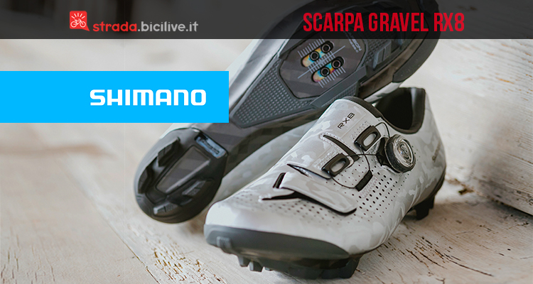 outlet store d8088 2b822 Shimano RX8: scarpa ciclismo gravel superleggera