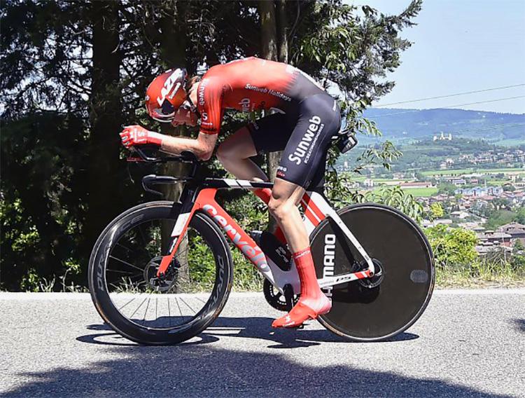 Chad Haga vincitore crono tappa 21 del giro d'Italia 2019