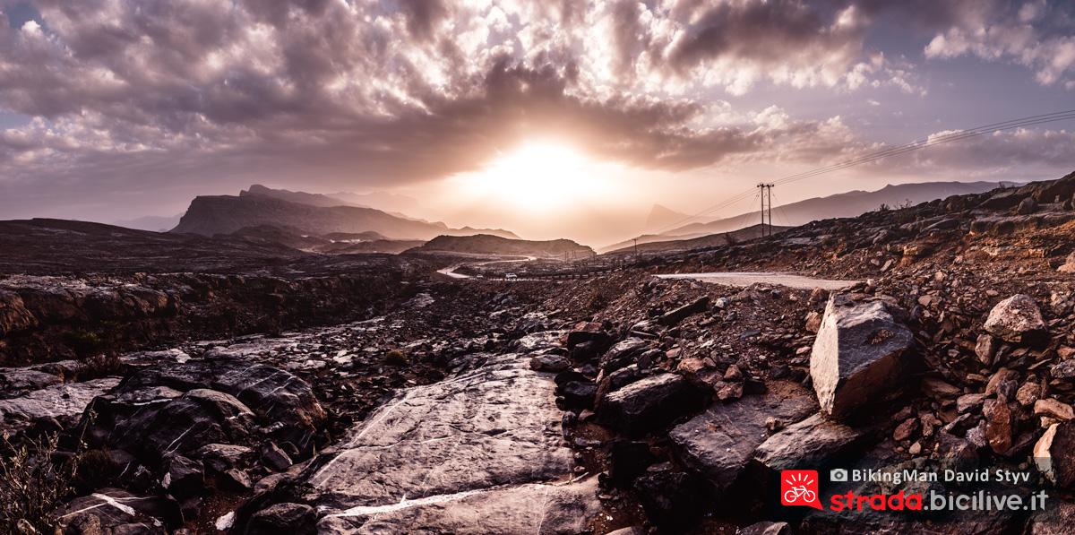 Un paesaggio in Oman durante il Biking Man 2019