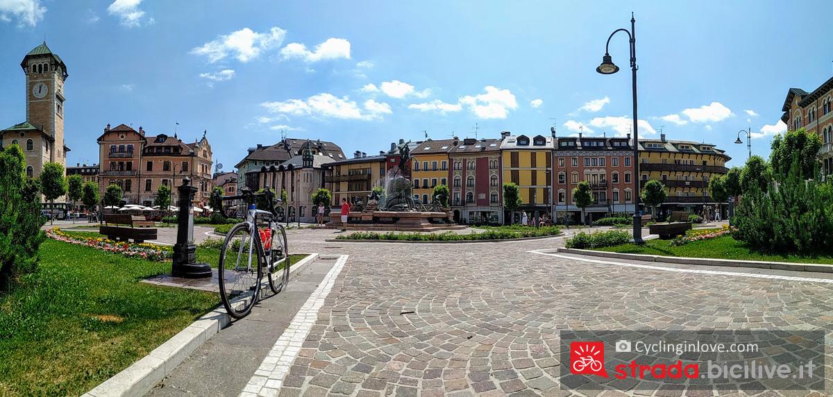 La splendida piazza centrale di Asiago