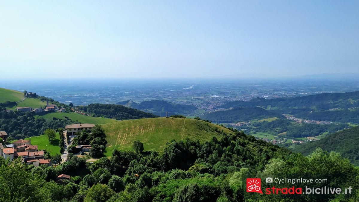 Panorama offerto dalla terrazza di Pradipalpo