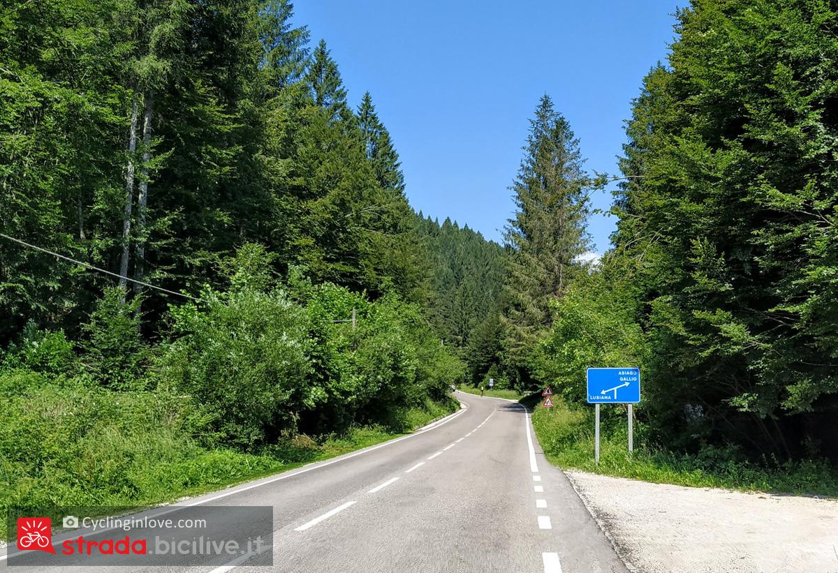 La strada verso Campomezzavia