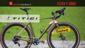 Il test della bici gravel in carbonio Titici Flexy F-GR02