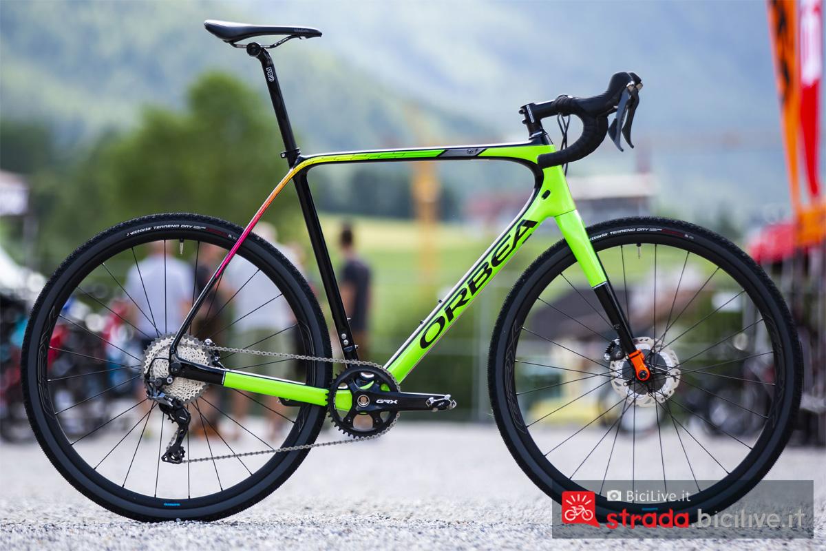 La bicicletta gravel Orbea Terra usata per il test del gruppo Shimano GRX