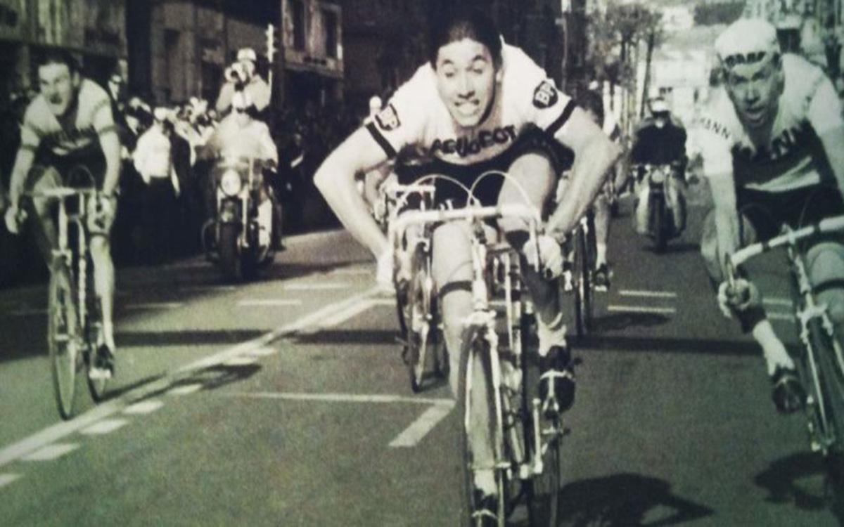 Una delle prime vittorie alla Milano-Sanremo 1966 di Eddy Merckx