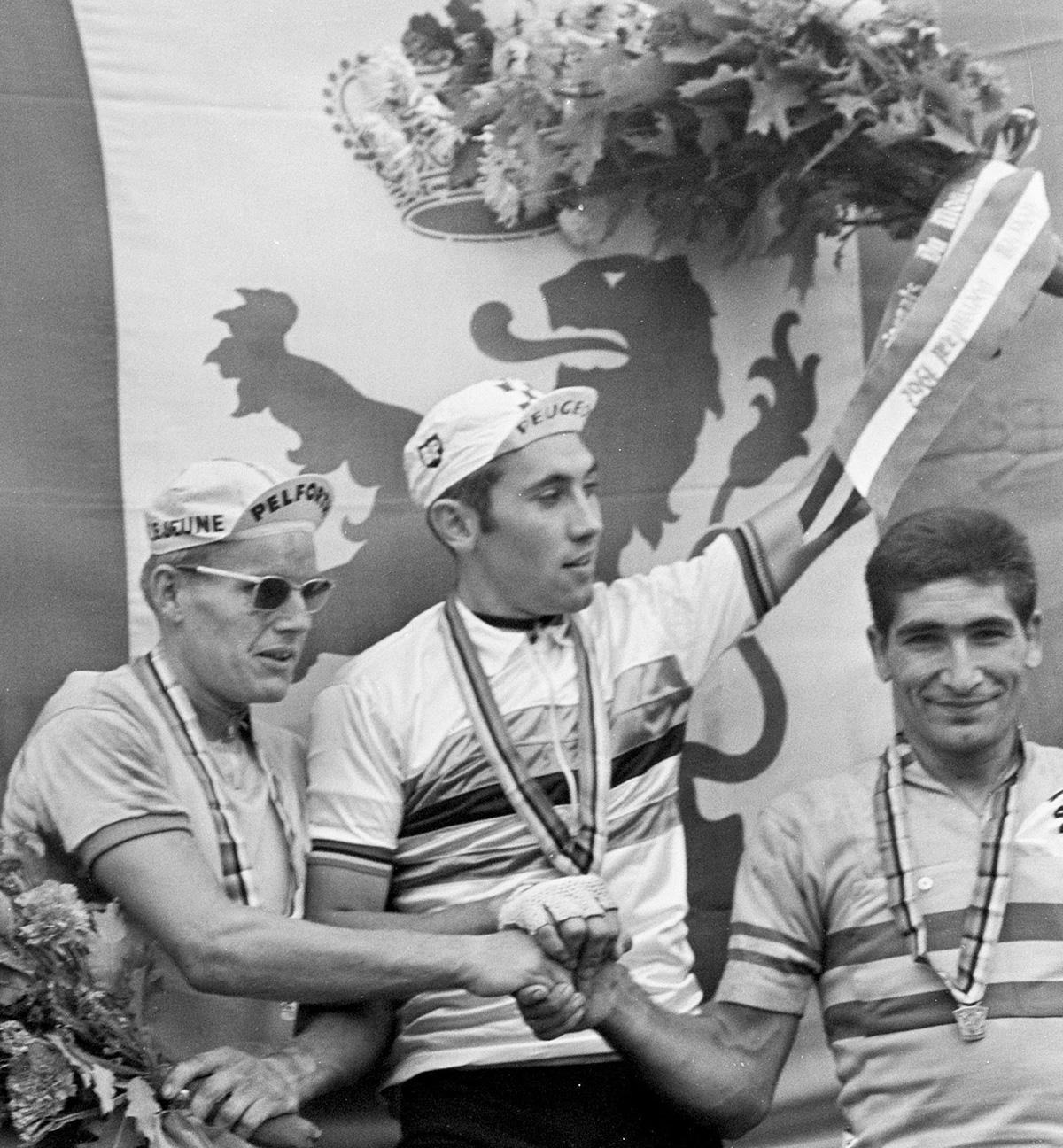 Eddy Merckx diventa Campione del Mondo a Heerlen a soli ventidue anni nel 1967
