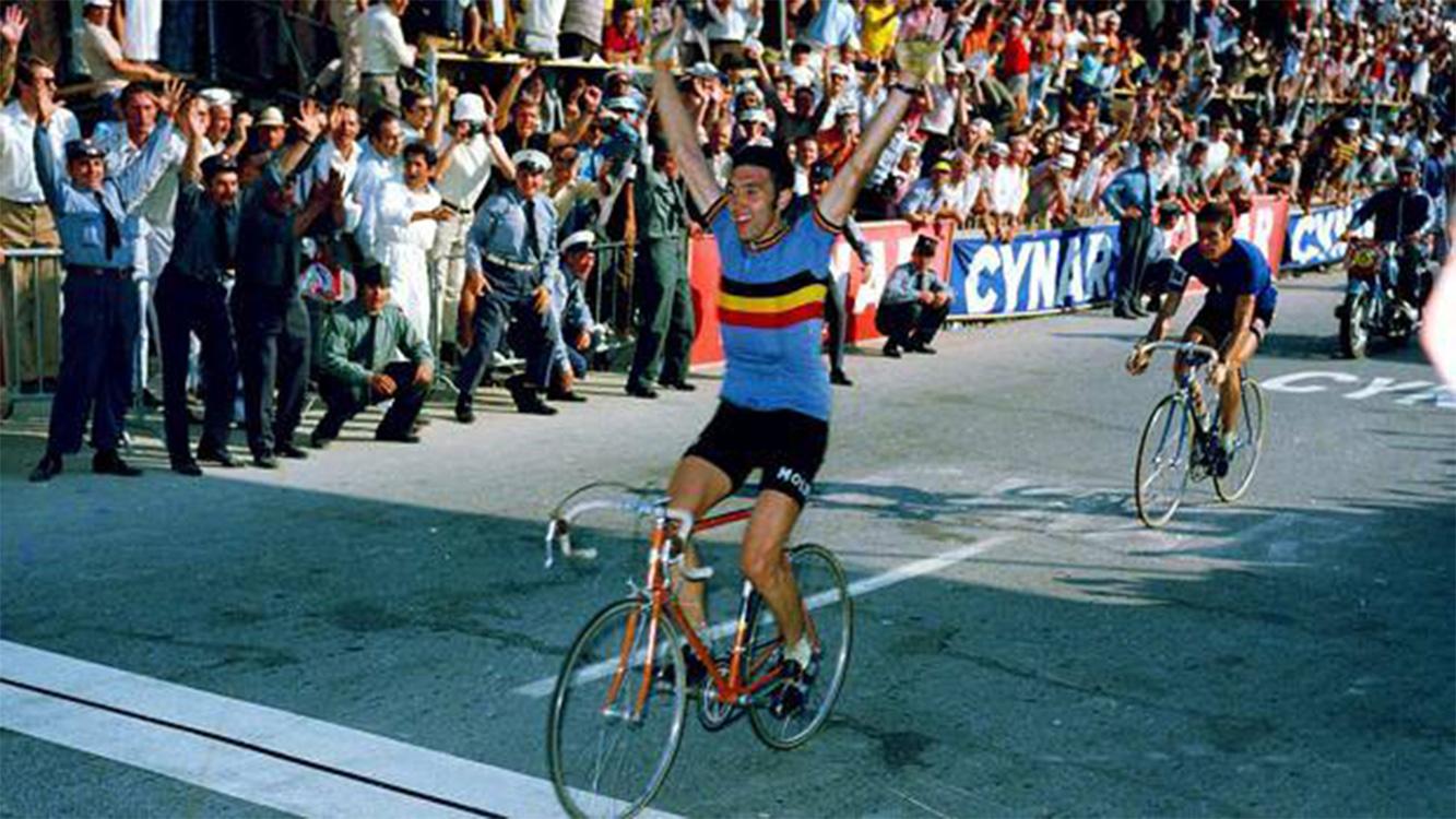 Eddy Merckx vince il secondo Campionato del Mondo nel 1971