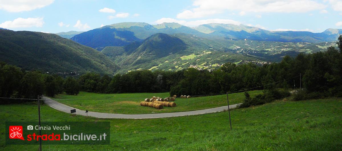 Panorama con il Monte Cusna a Romanoro