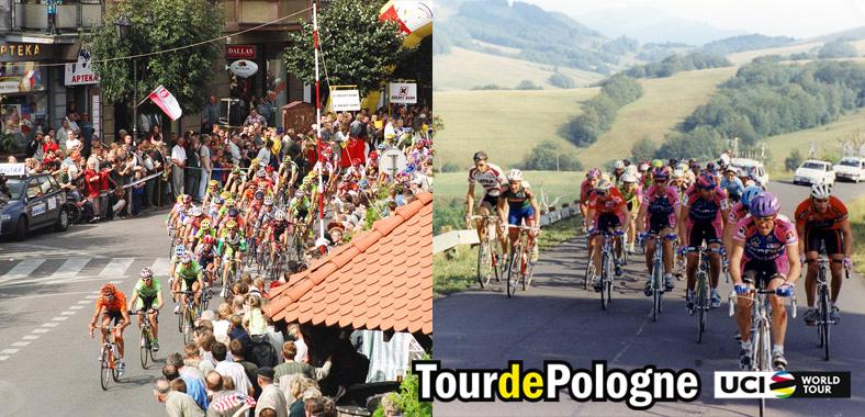 Gruppo di ciclisti in gara al Tour de Pologne