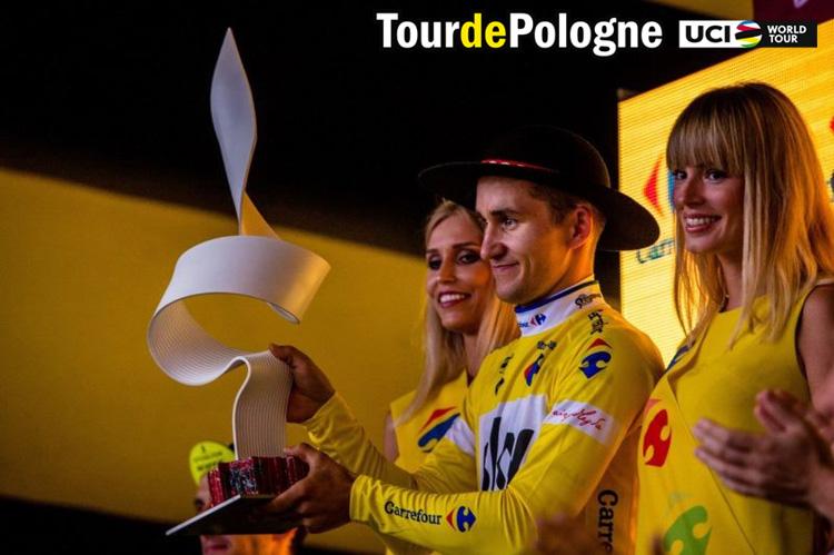 Il trofeo in palio per la vittoria al Giro di Polonia 2019