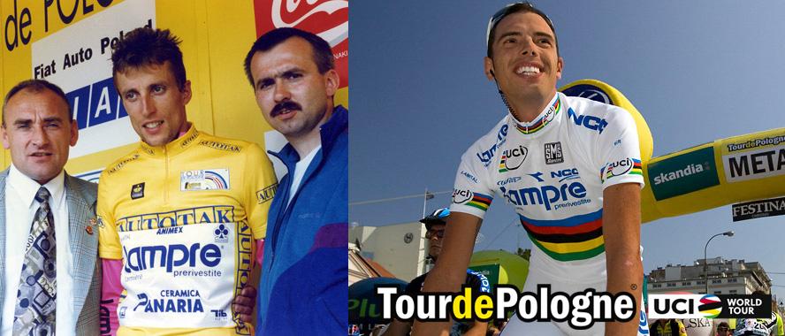 Due vincitori italiani al Giro di Polonia: Maurizio Fondriest e Alessandro Ballan