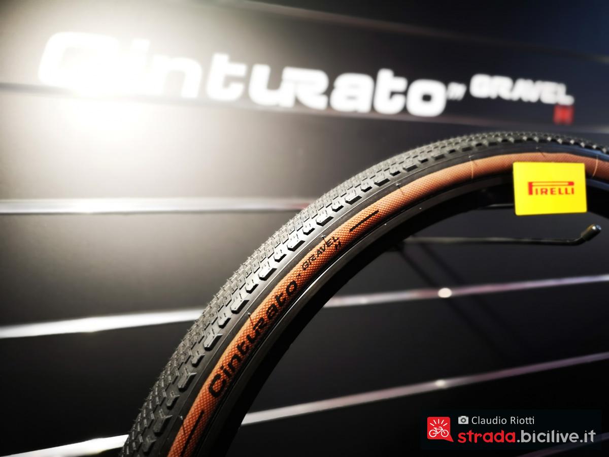 La gomma Cinturato Gravel 2020 fotografata alla fiera Eurobike 2019
