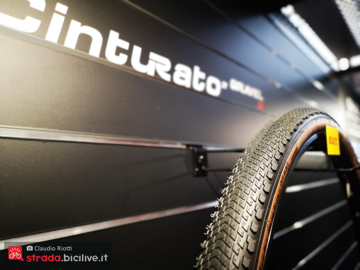 Una copertura Cinturato Gravel in una foto presa a Eurobike 2019