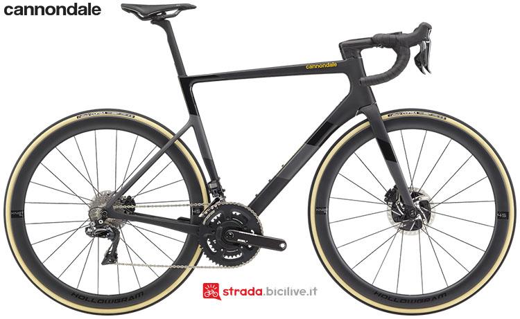 La bici Cannondale SuperSix EVO Hi-Mod Disc Dura Ace Di2 2020