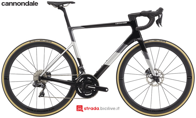 La bici Cannondale SuperSix EVO Hi-Mod Disc Ultegra Di2 2020