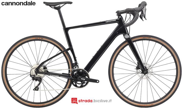 La bici Cannondale Topstone Carbon 105 2020