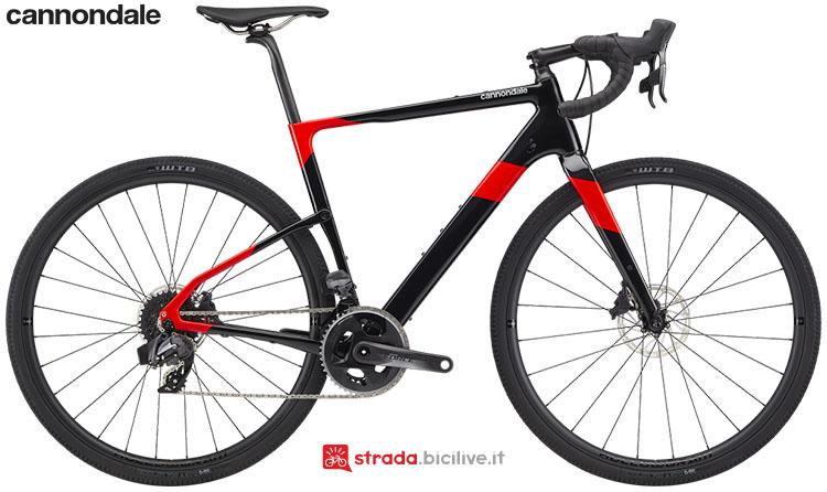 La bici Cannondale Topstone Carbon Force eTap AXS 2020