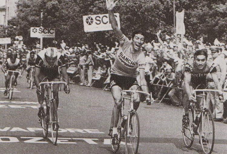 Felice Gimondi vince la sua terza maglia rosa al Giro nel 1976
