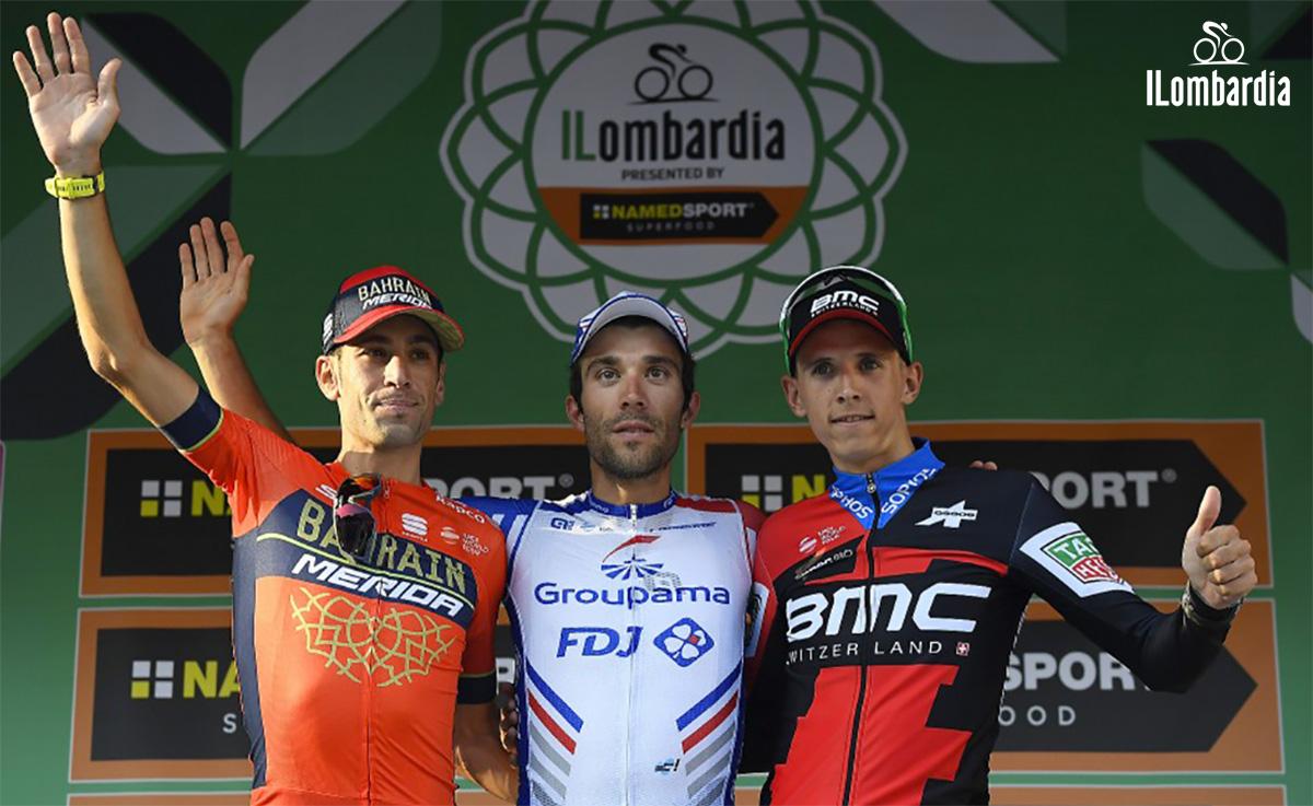 Il Giro di Lombardia podio edizione 2018