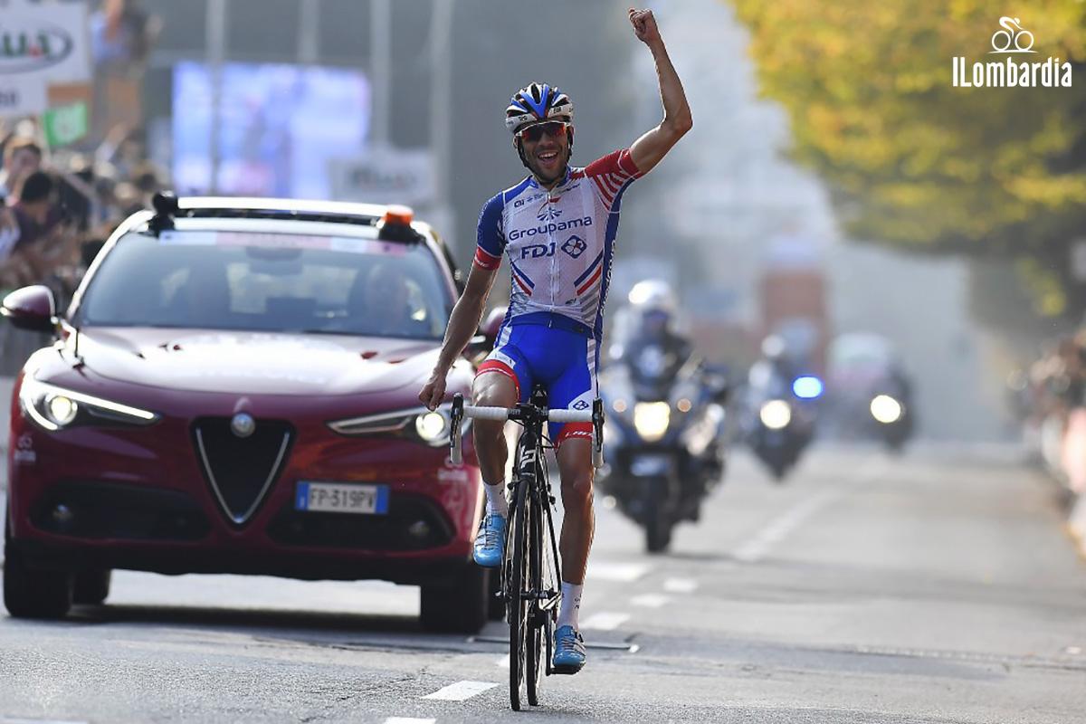 Il Giro di Lombardia vincitore dell'edizione 2018 Thibaut Pinot