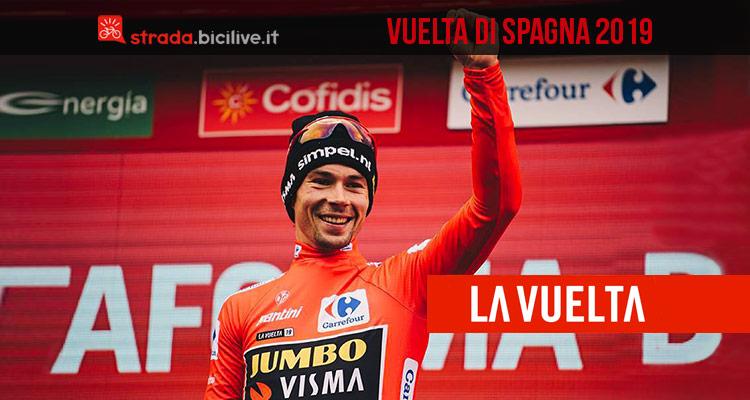 Vuelta di Spagna 2019: dal 24 agosto al 15 settembre vittoria di Primoz Roglic