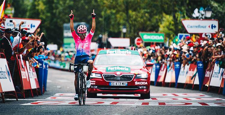 Sergio Higuita vince la tappa 18 della Vuelta 2019