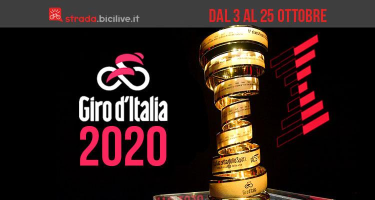 Giro d'Italia 2020: l'edizione 103 dal 3 al 25 ottobre