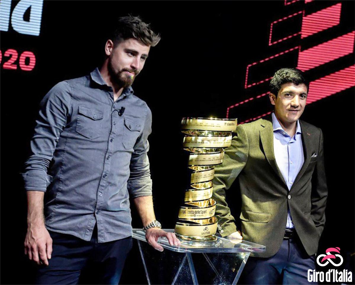 La presentazione del Giro d'Italia 2020 ufficiale con Peter Sagan e Richard Carapaz