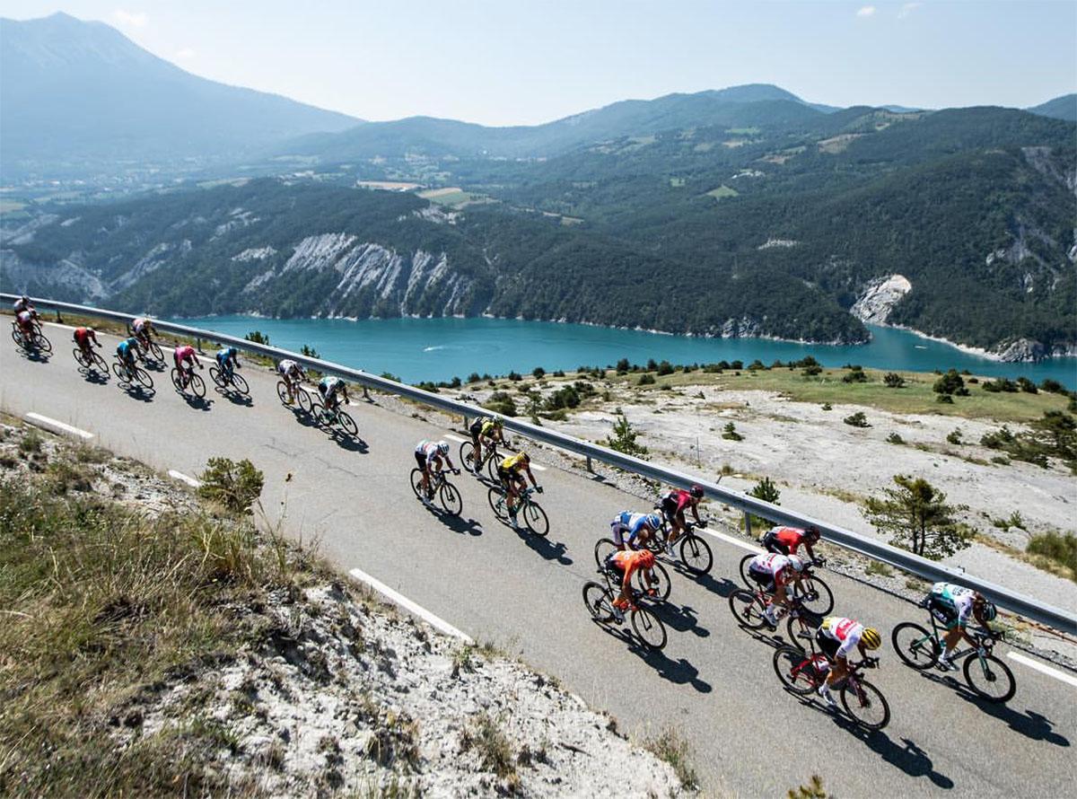 I ciclisti del Tour de France in azione