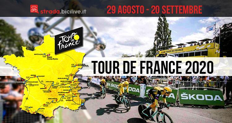 Tour de France 2020: edizione 107 dal 29 agosto al 20 settembre