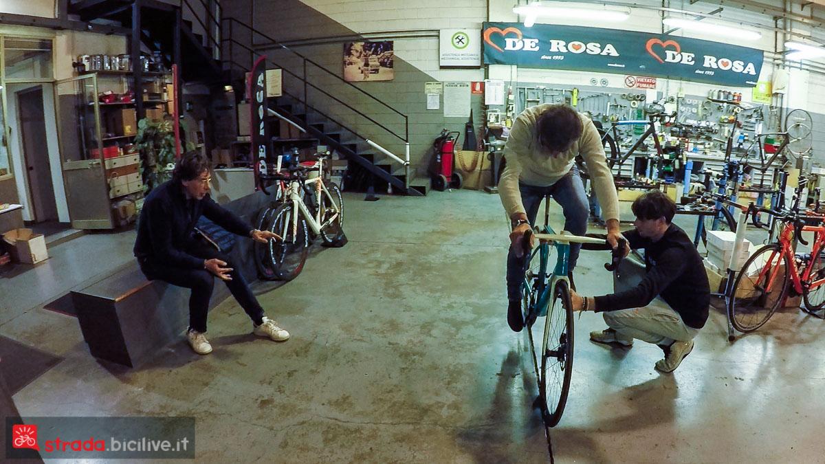 foto del posizionamento in sella di bike room
