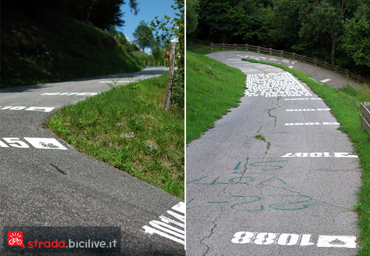 La salita del Muro di Sormano al Giro di Lombardia