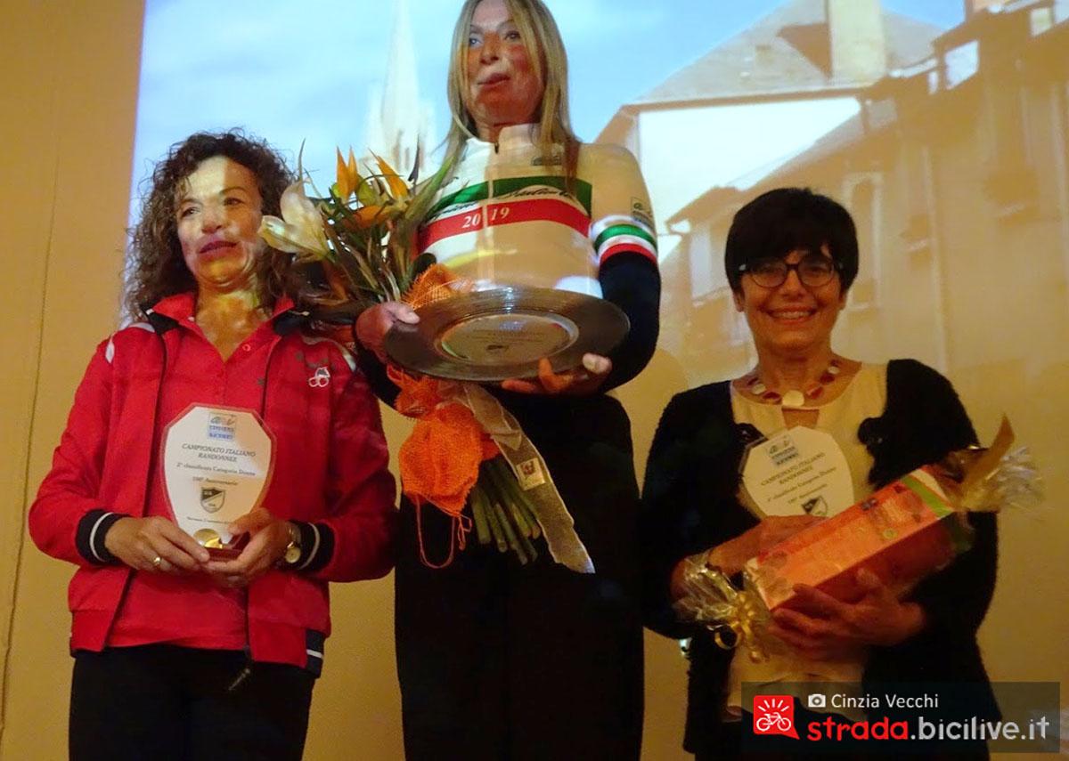Campionato individuale il podio femminile