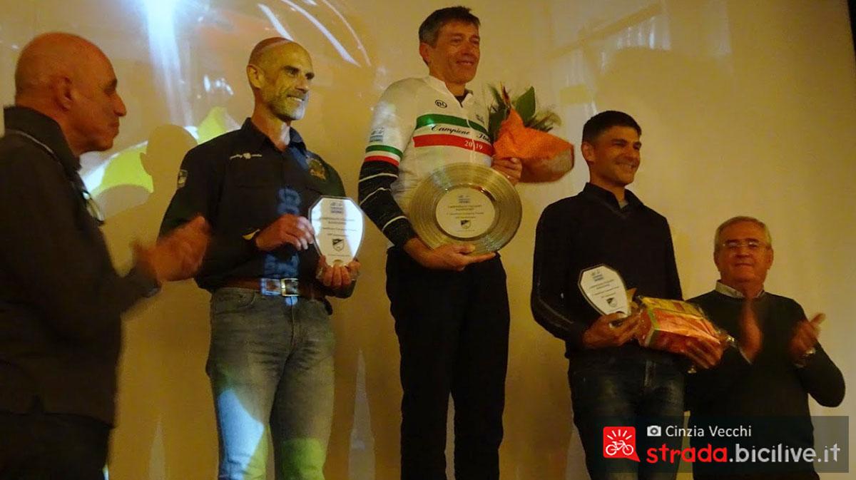 Campionato individuale il podio maschile