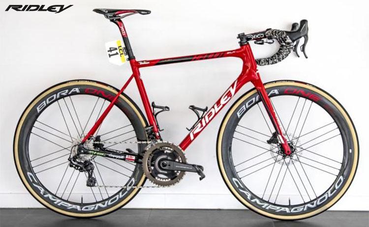 La bici Ridley Helium SLX Disc 2020 vincitrice con Jelle Wallays la prestigiosa Parigi-Tours