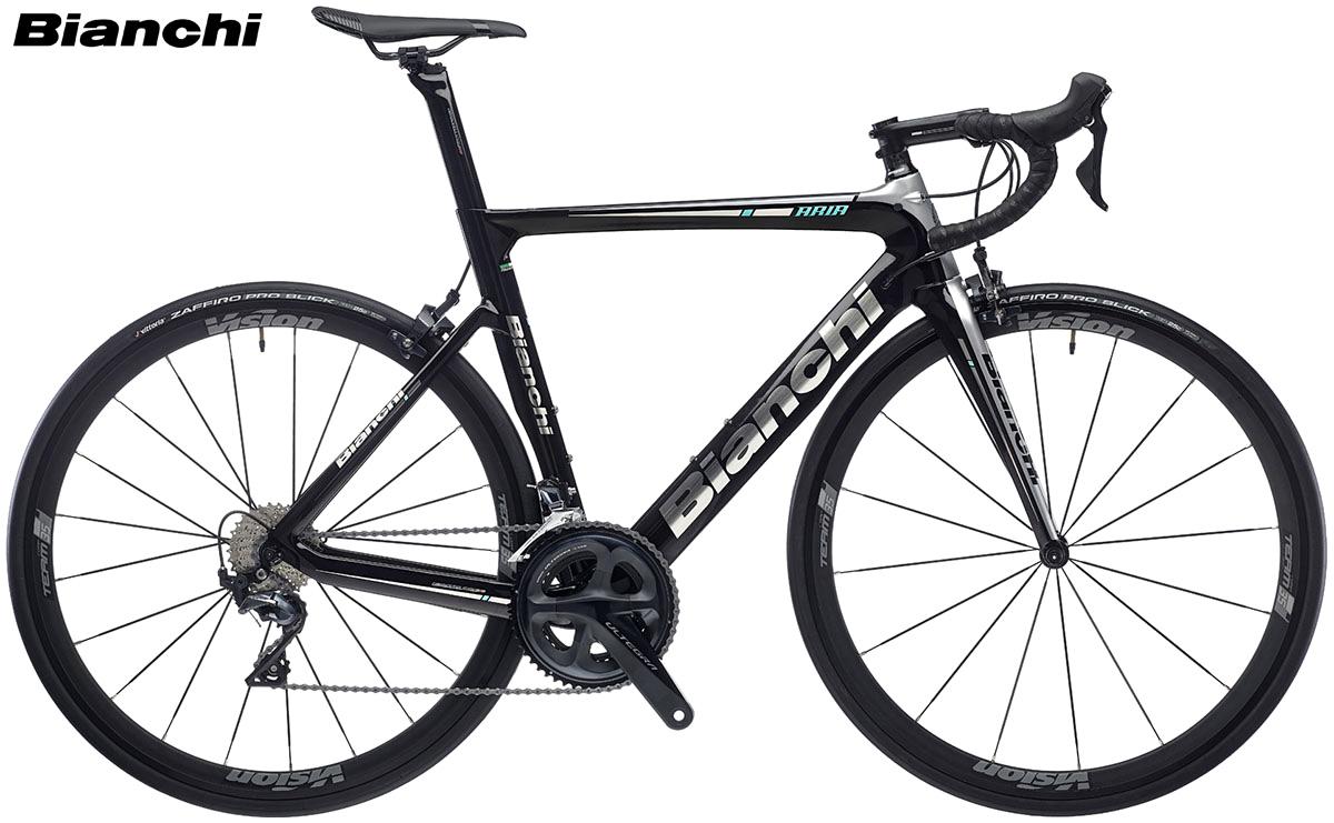 Una bici da corsa Bianchi Aria dal listino 2020